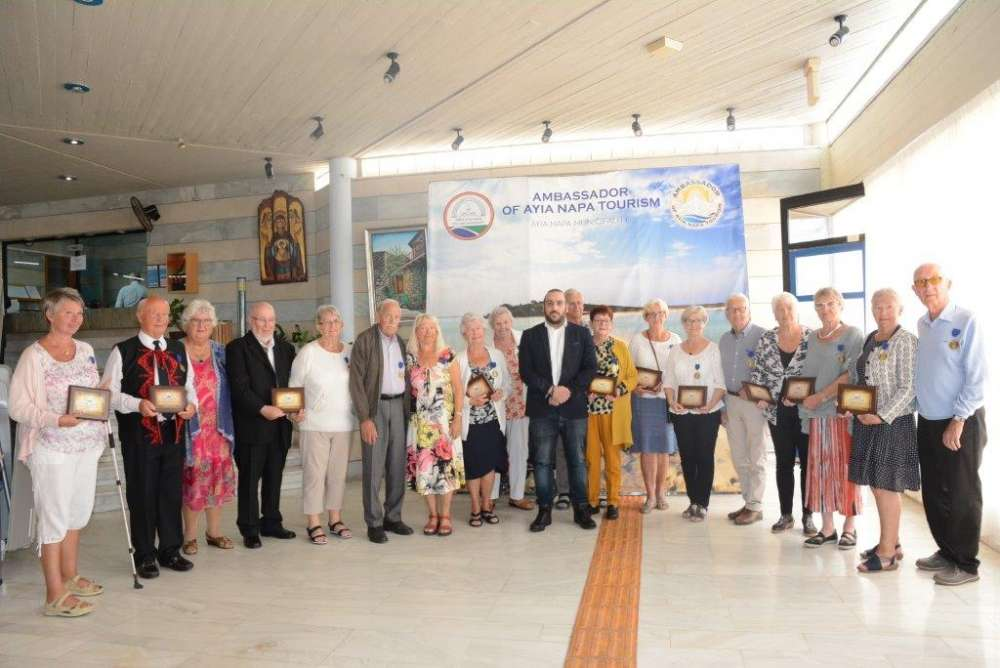 18 Scandinavian tourists honoured by Ayia Napa for their multiple visits