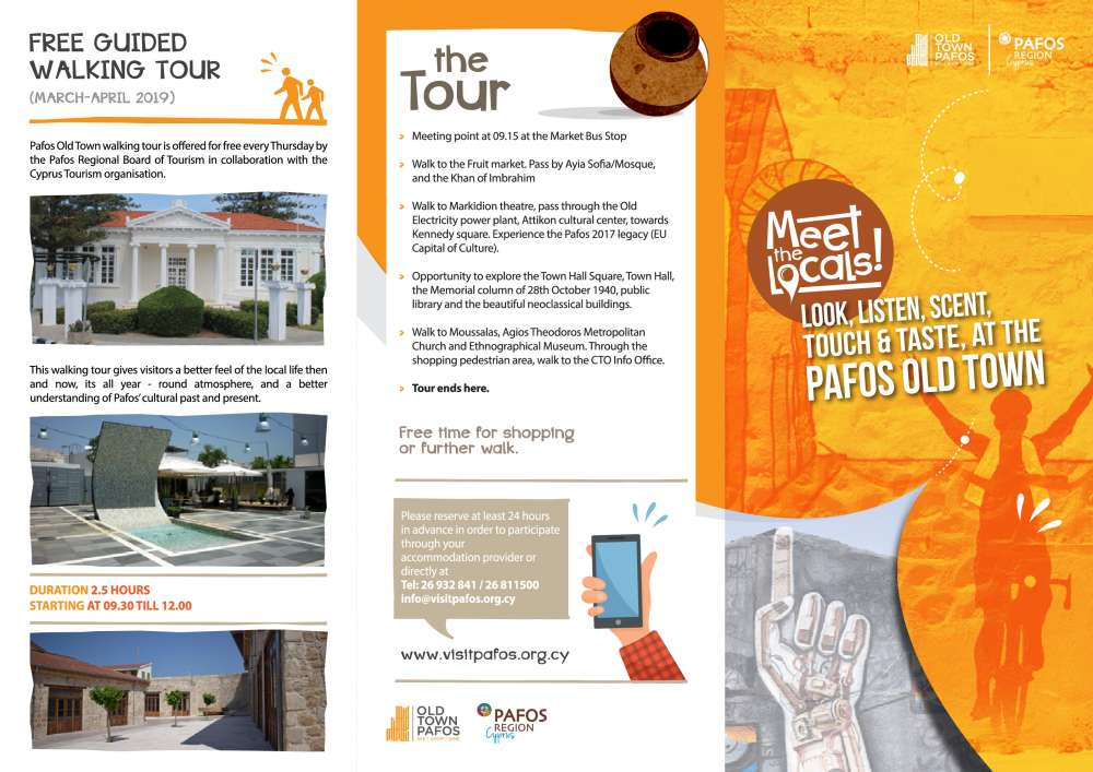 Free walking tours in Paphos every Thursday
