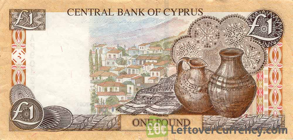 Image result for cyprus one pound note