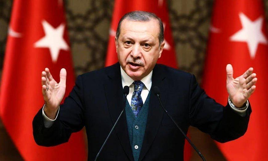 Erdogan says Turkish-led forces to advance 30-35 km - Merkel tells him to halt offensive