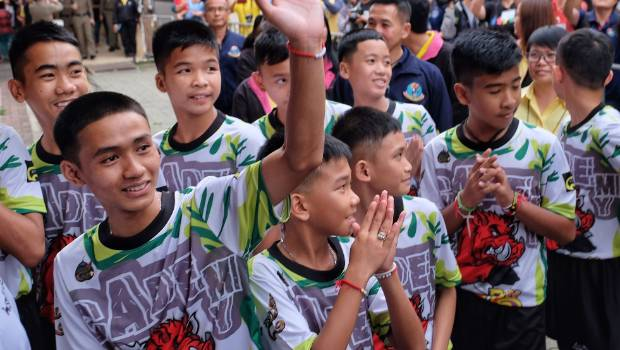 Thai cave boys to watch Man United - Everton at Old Trafford