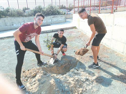 Tree planting at Latsia High School
