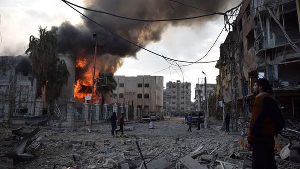 Explosion in Syrian town on Turkish border kills 13 (video)