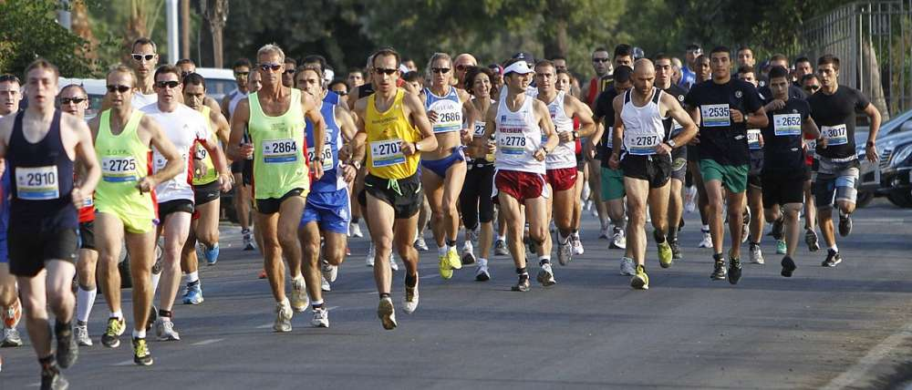 Which roads will be closed during the Nicosia marathon?