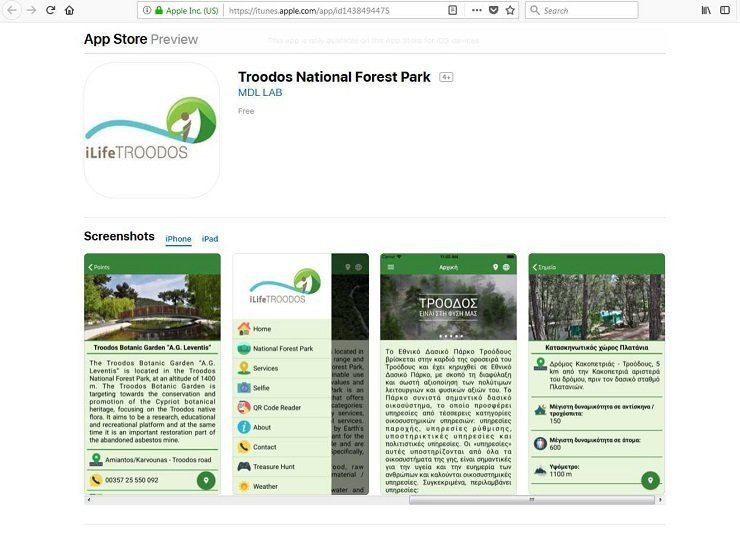 Troodos guide app released