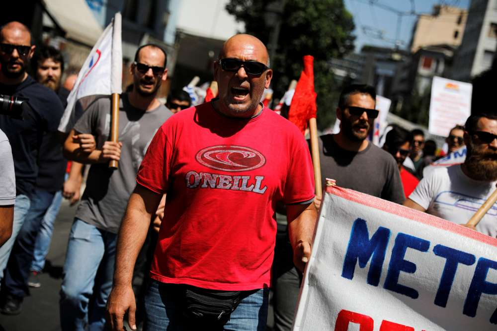 Greek workers strike against reforms