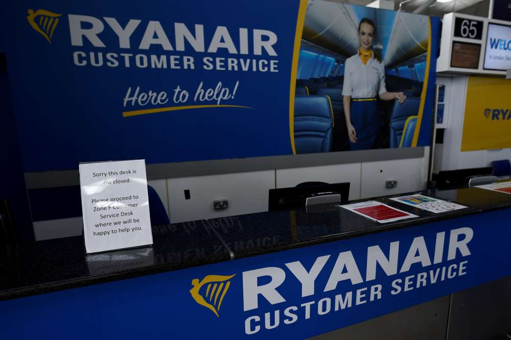 German union to start pay talks for Ryanair cabin crew on Wednesday