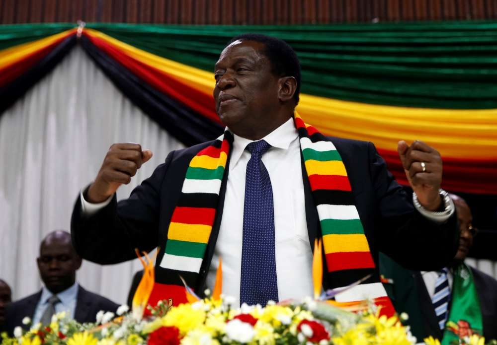 Zimbabwe's president unhurt after