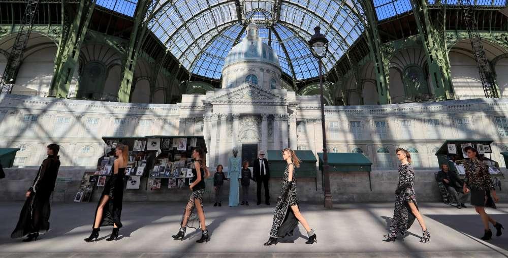 Chanel recreates stroll down the Seine in catwalk ode to Paris