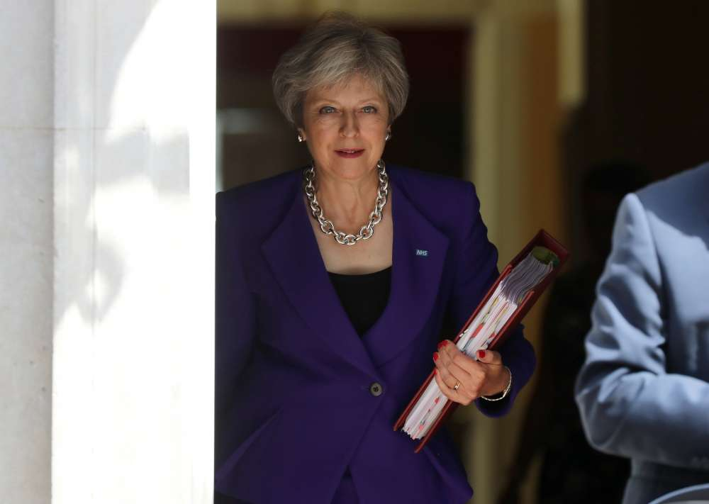 Leaked British memo gives a taste of PM May's possible Brexit finale