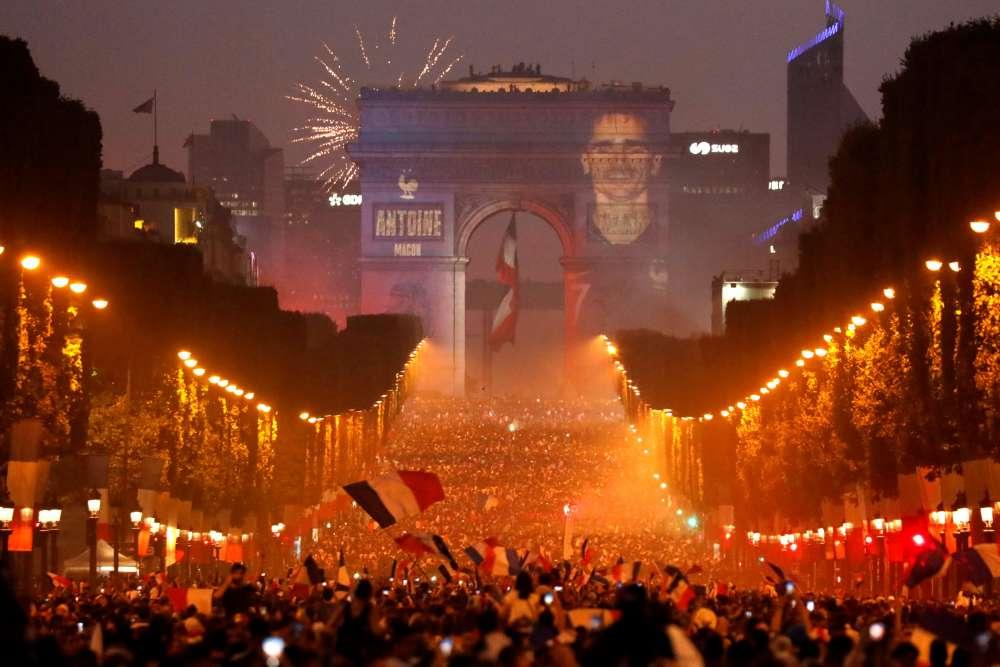 World Cup celebrations rock France;