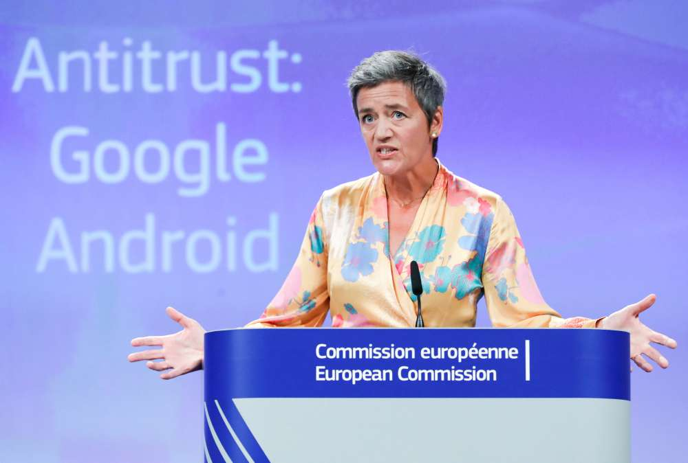 Google hit with record €4.34 b EU antitrust fine