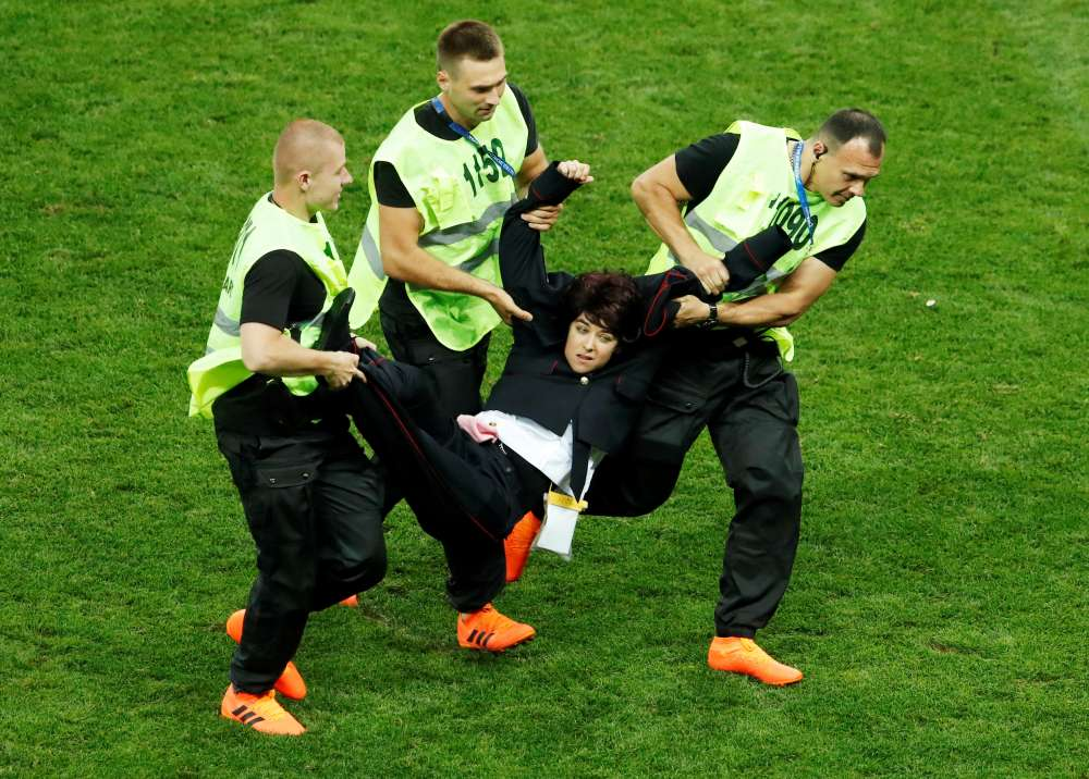 Russian World Cup pitch invaders held on new charges