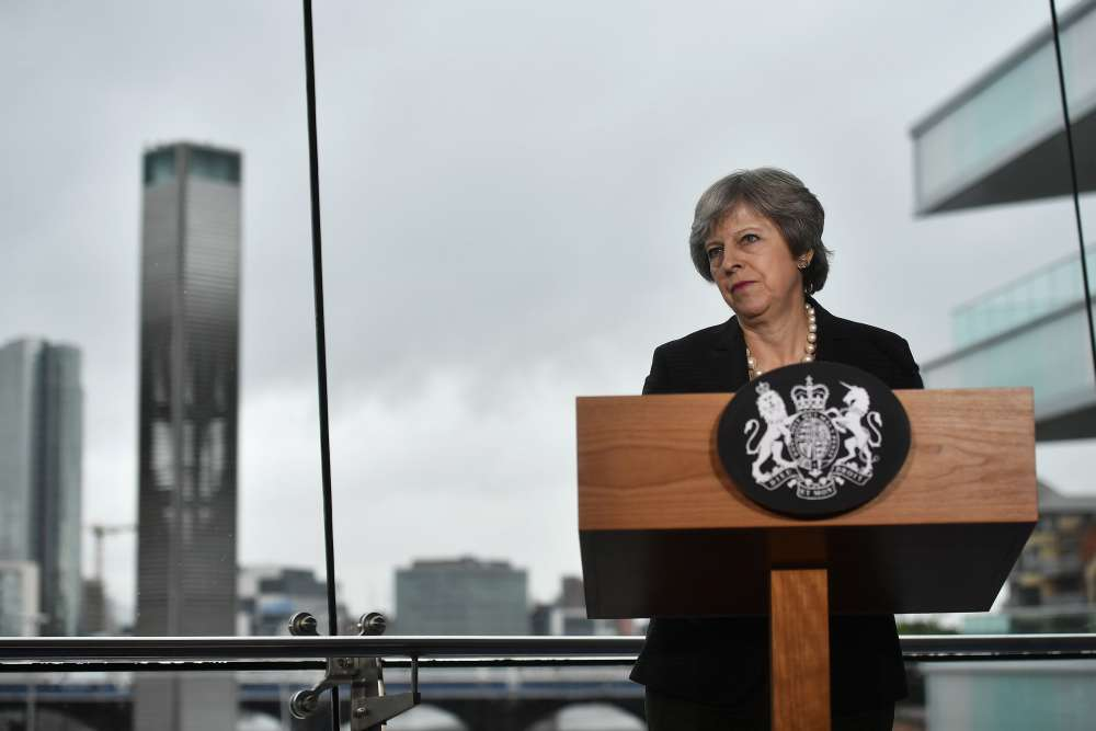 May demands new deal from EU on Irish border backstop