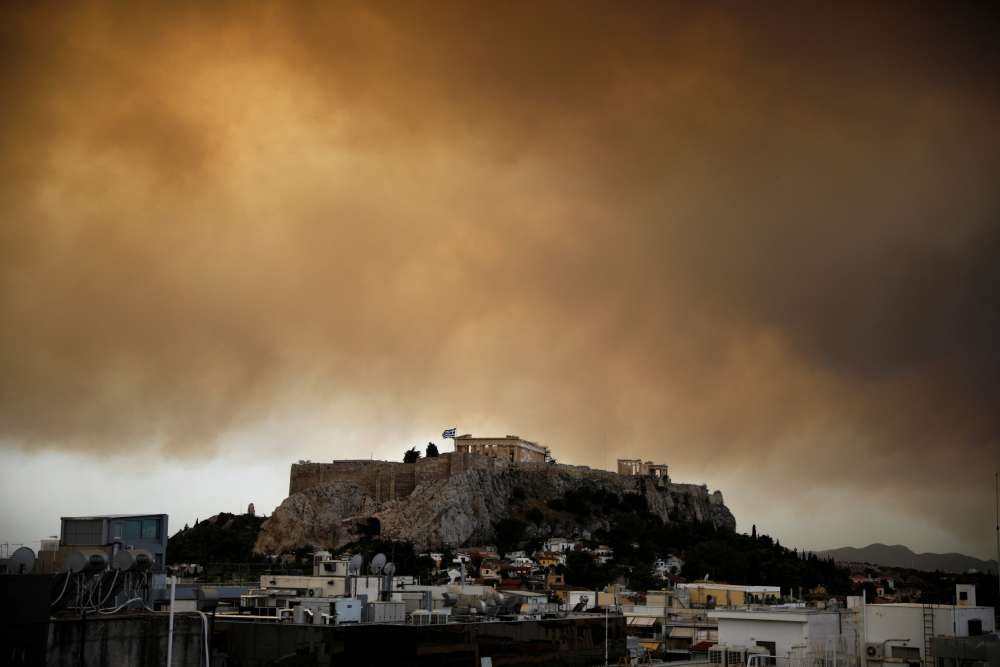 Greek wildfire rages near Athens