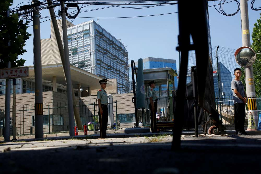 Blast outside U.S. embassy in China's capital wounds lone suspect