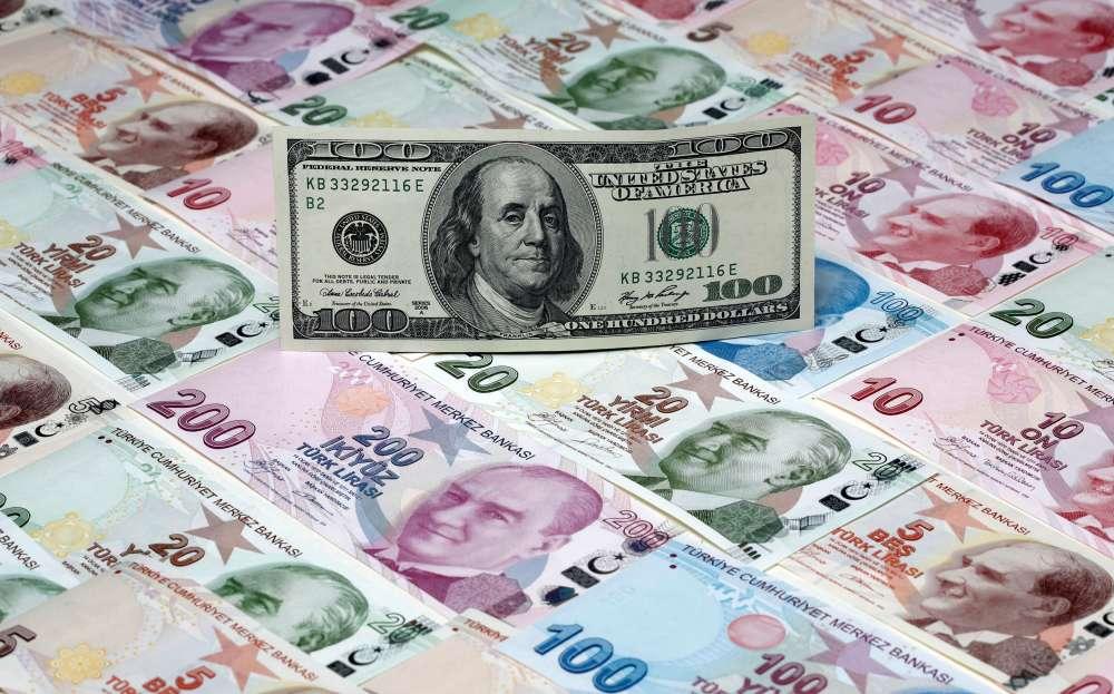 Turkish lira pulls back from record low