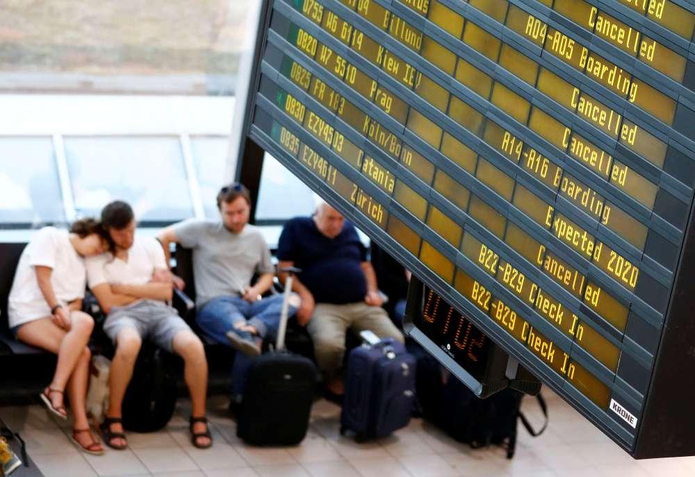 Ryanair strike hits 55