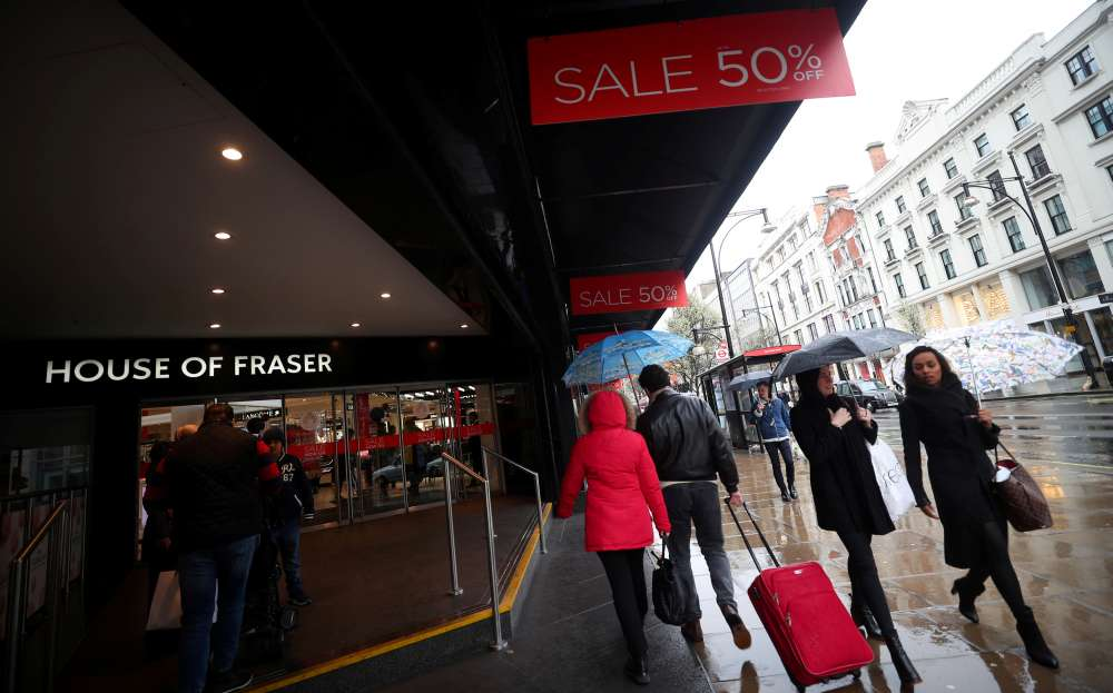 Sports Direct snaps up House of Fraser for 90 mln pounds