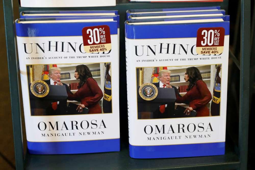 Omarosa's 'Unhinged' settles for No. 2 spot on U.S. best-seller list