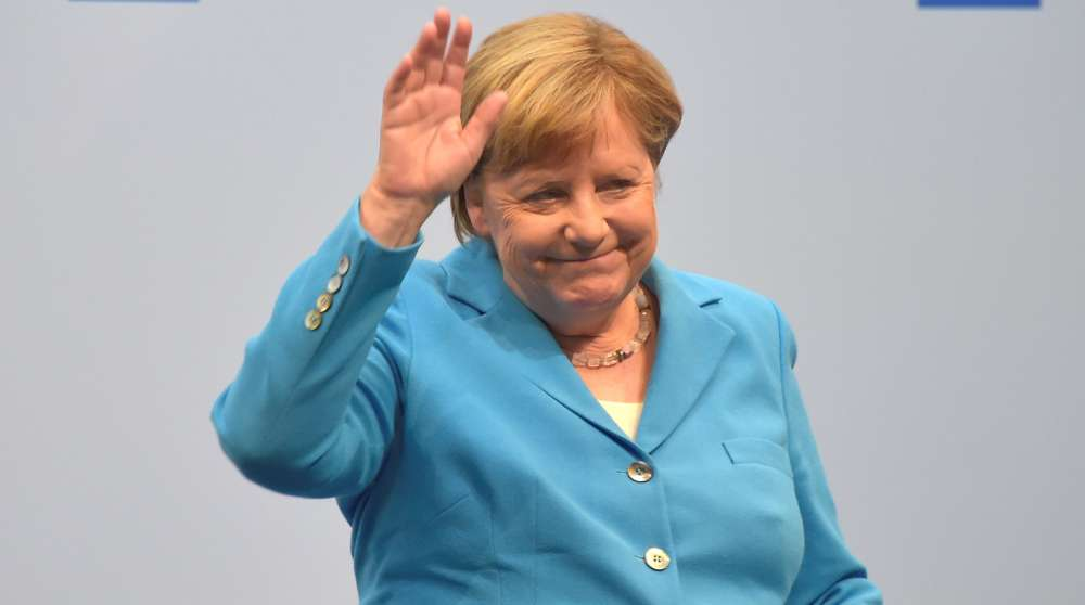 Germany's Merkel seen shaking for second time this month