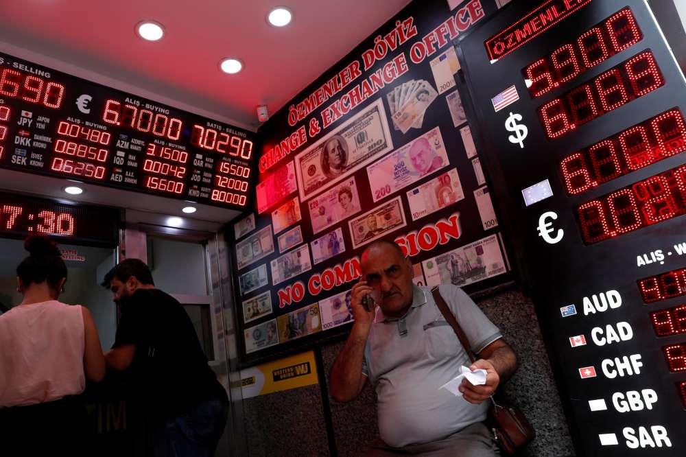 Turkey's lira weakens 5%