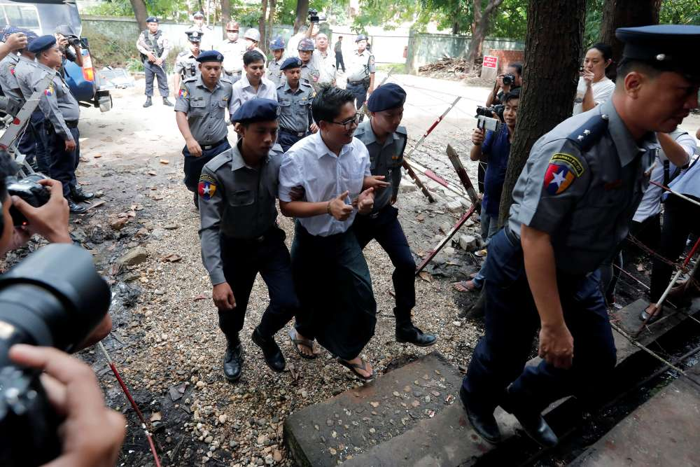 Reuters Myanmar reporters jailed for seven years in landmark secrets case