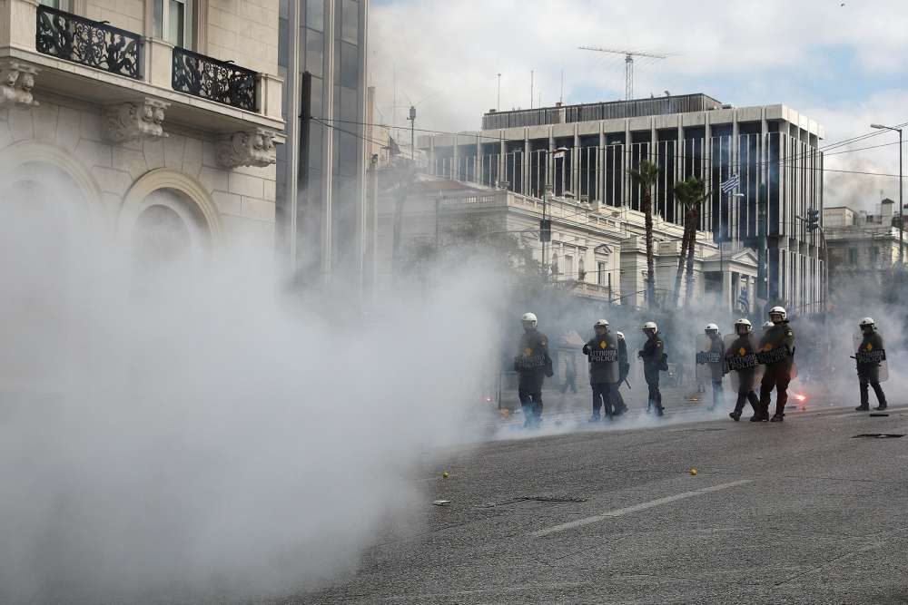 Greek students clash with police in central Athens
