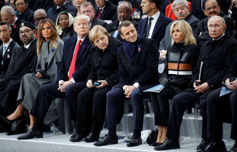 Update - World leaders mark WW1 Armistice centenary in Paris