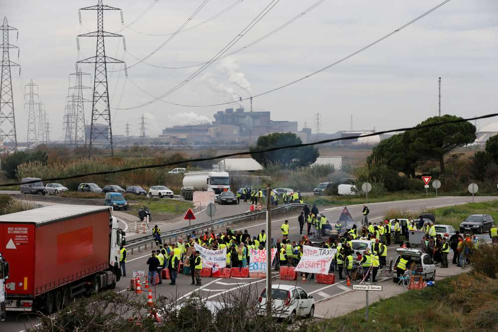 Protesters in France block access to three fuel depots - Total spokesman