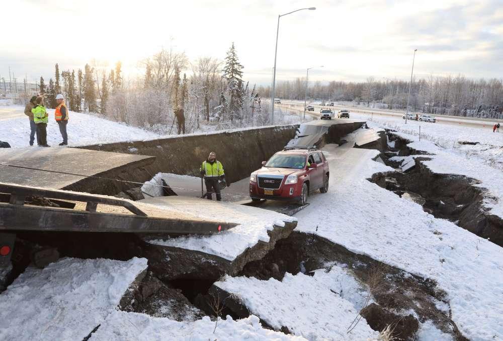Powerful quake rattles Alaska
