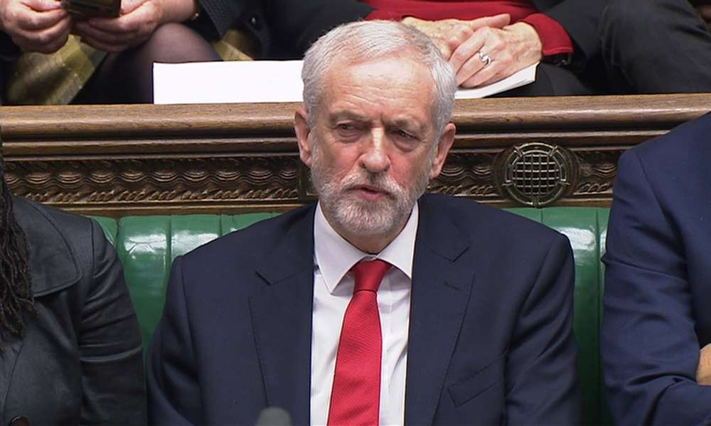 Anger in UK parliament as Corbyn accused of calling PM