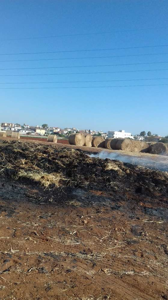 150 bales of hay destroyed by fire in Liopetri
