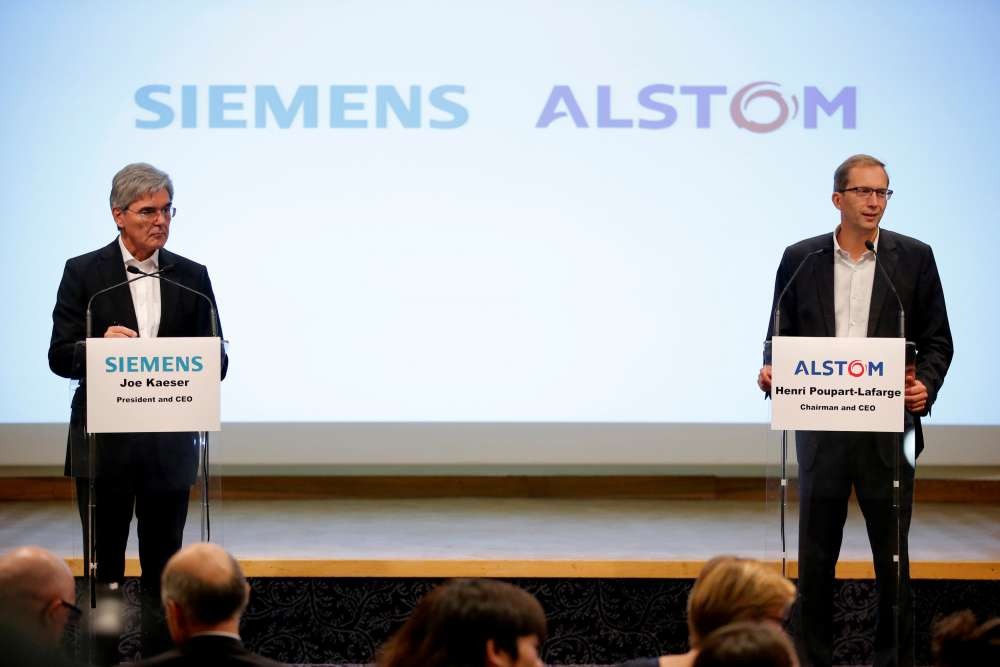 EU says reviewing concessions from Siemens and Alstom on rail deal