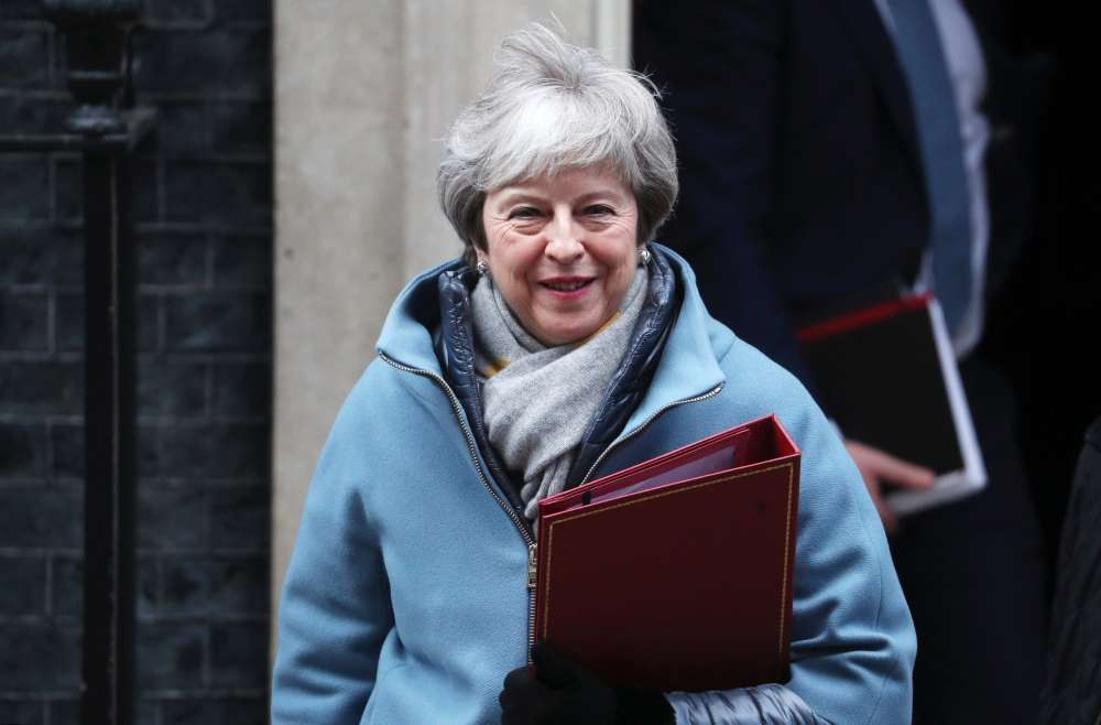 Brexit supporters give UK PM May three tests for EU deal- S. Times