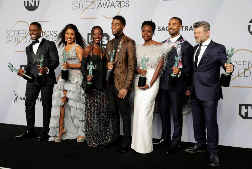 'Black Panther' takes top SAG awards prize
