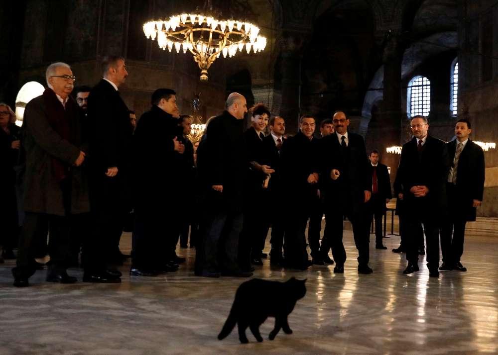Tsipras visits Hagia Sophia on trip to boost Turkey ties