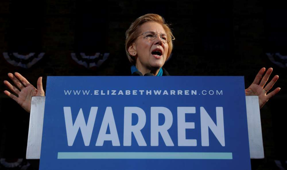 U.S. Sen. Warren launches 2020 campaign