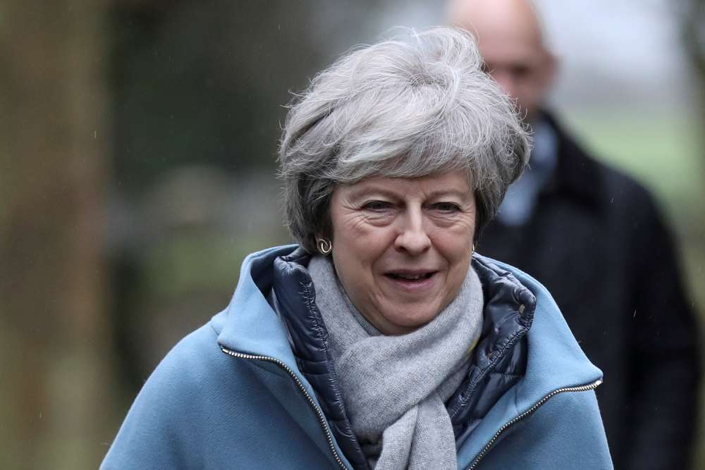 May buckles: British PM to rule out no-deal Brexit - media reports