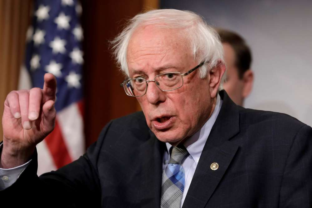 Presidential hopeful Sanders in hospital for chest pains