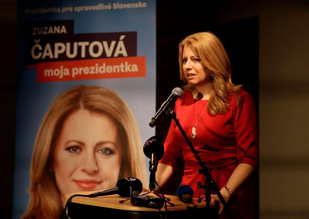Caputova set to win Slovakia's presidential elections