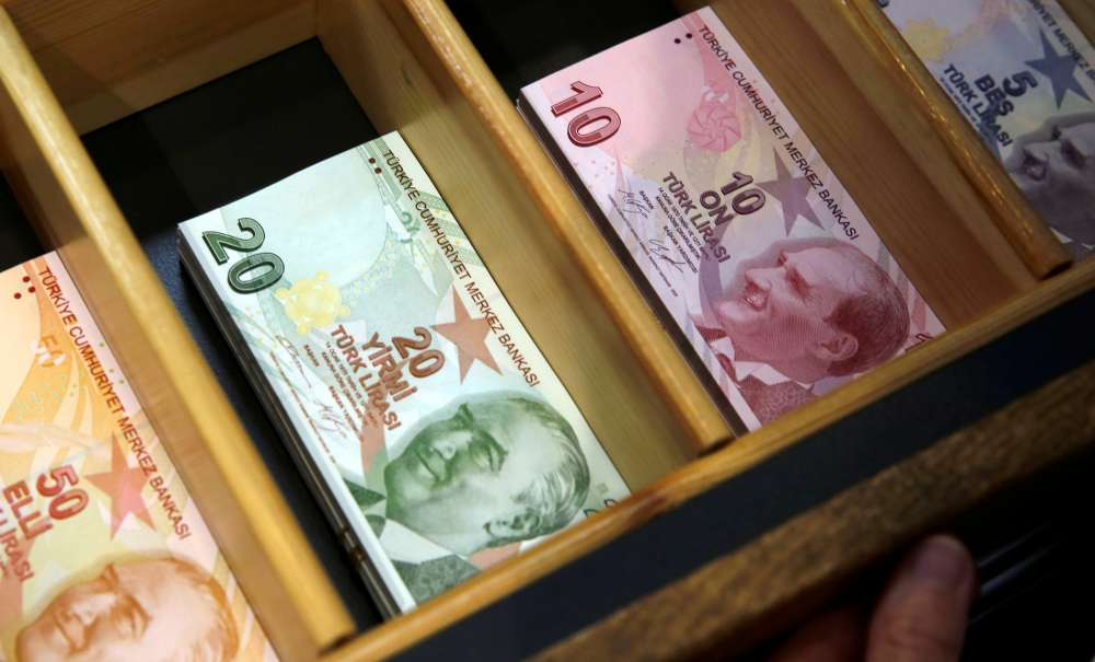 Turkish lira drops more than 1 pct