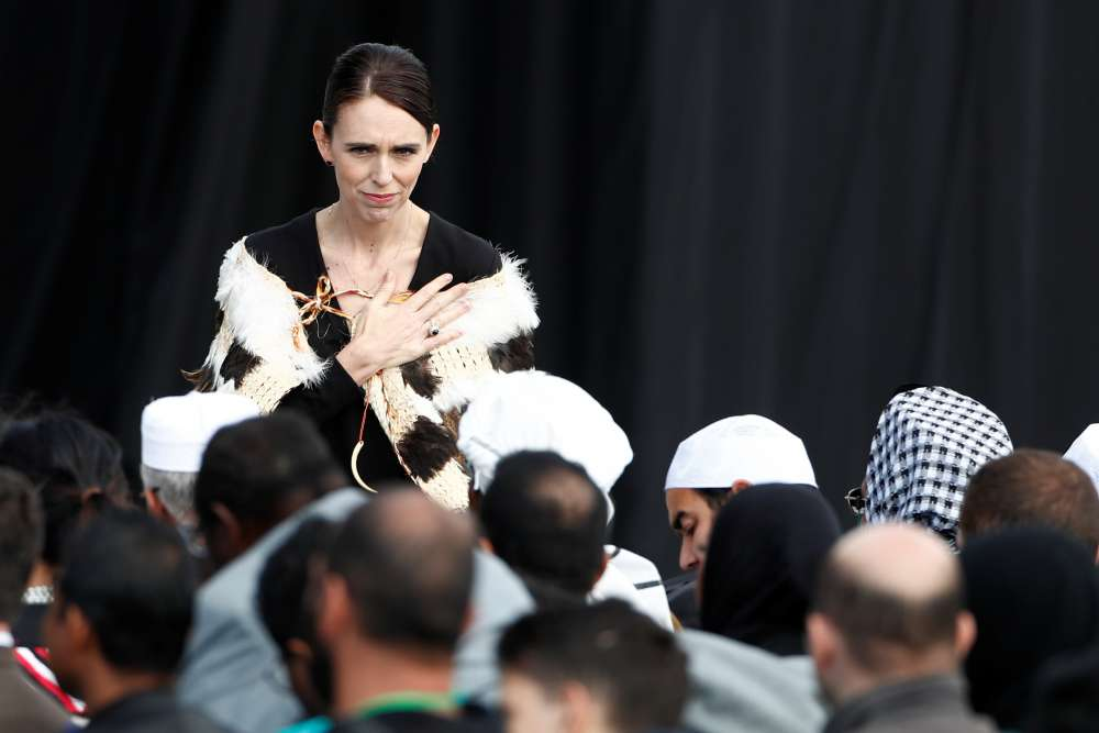 Silent crowd listens to mosque victims' names at New Zealand memorial