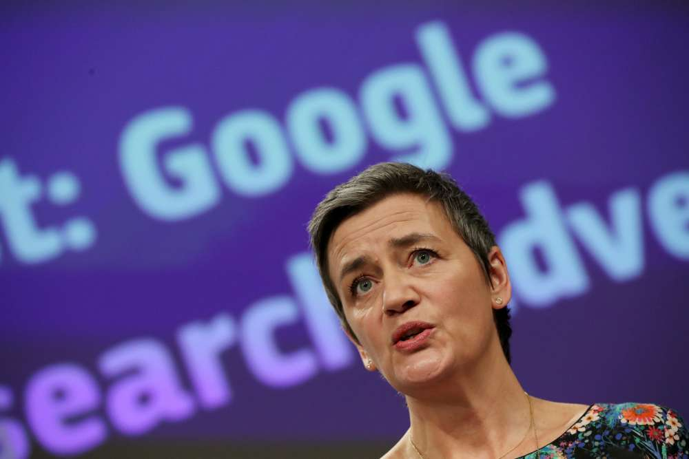 EU's Vestager says Europe must lead the way with a digital tax