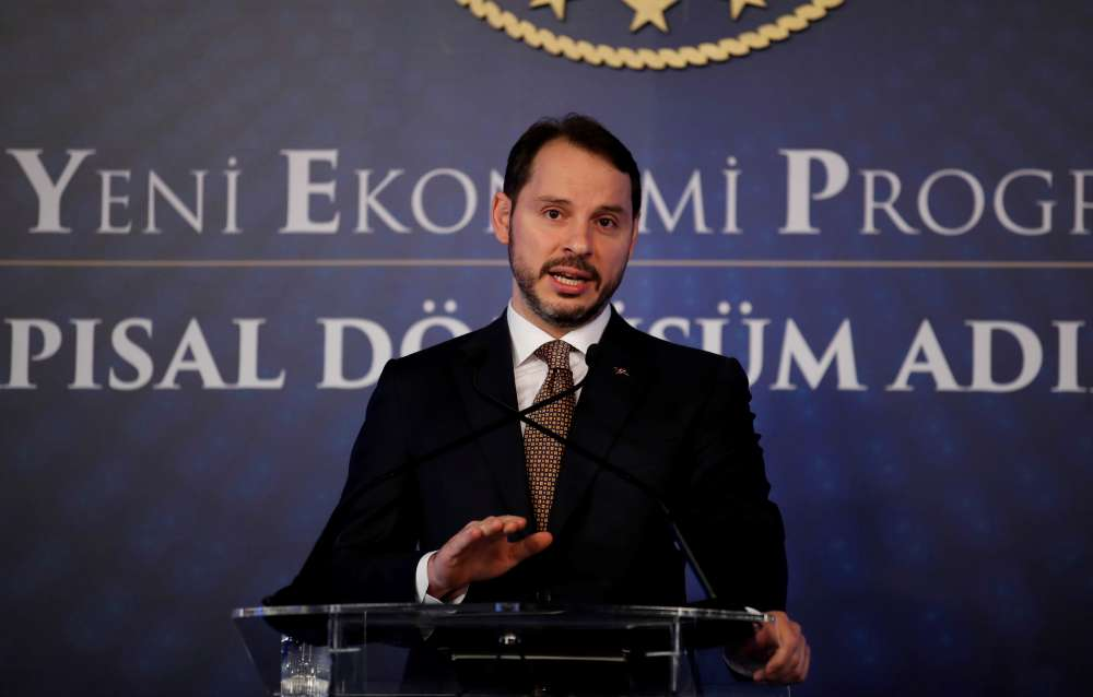 Turkey's Albayrak leaves investors unconvinced in Washington -sources