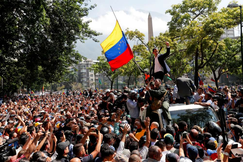 Guaido faces test with call for 'largest march' in Venezuela history