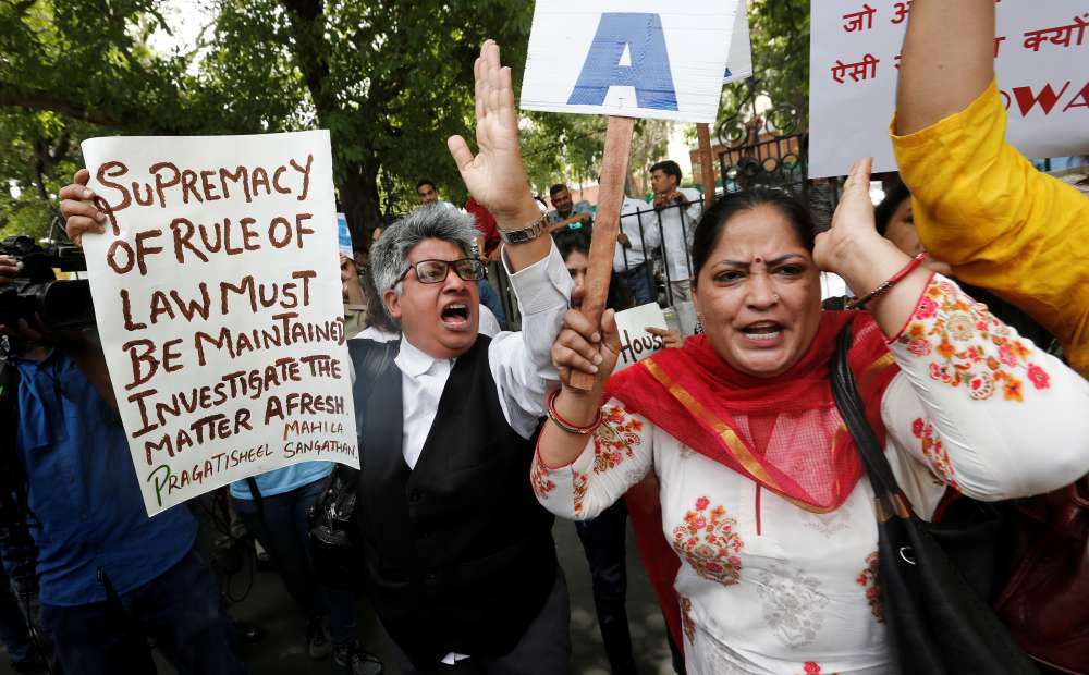 Protests erupt in India after top judge cleared of sexual harassment
