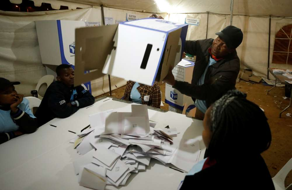 ANC coasting to victory in South African election