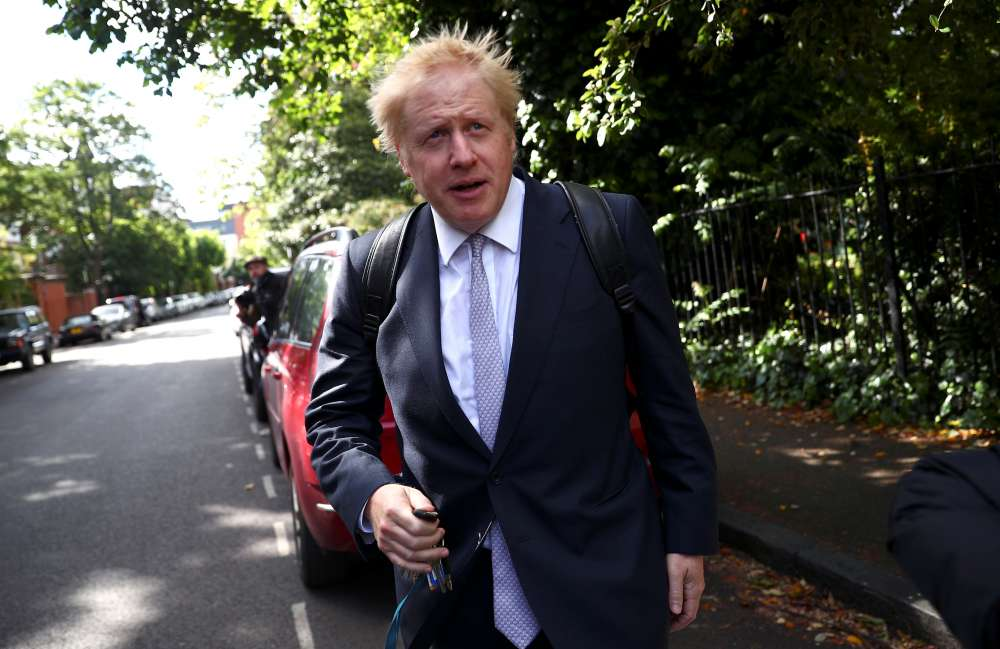 Police called to disturbance at UK PM candidate Johnson's home