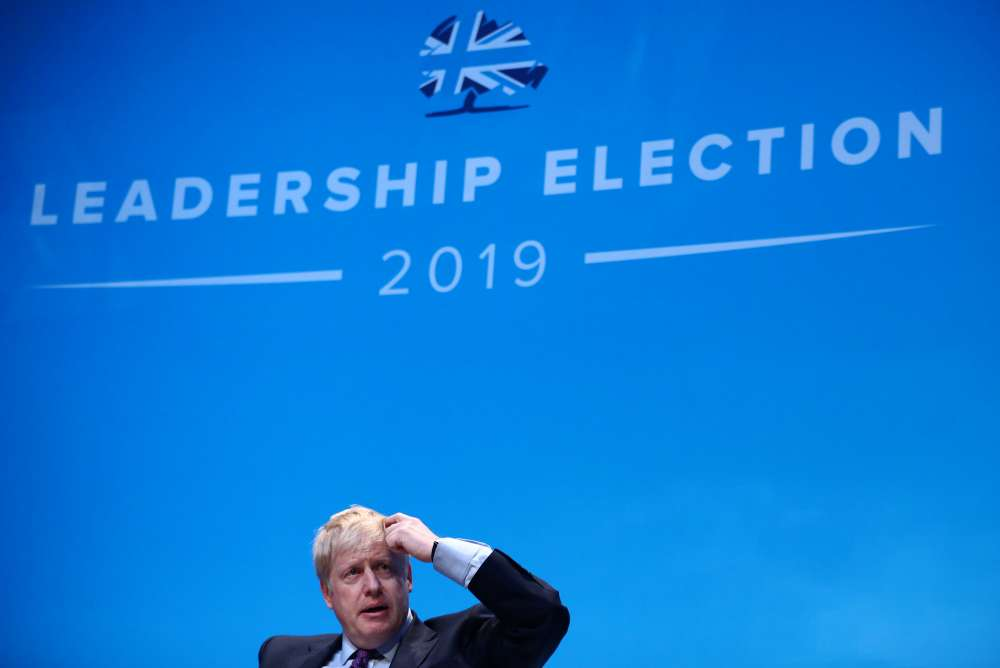 UK PM candidate Boris Johnson avoids questions about police visit